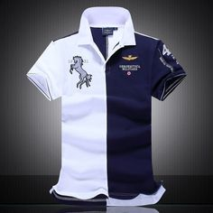 2016 summer new men's boutique embroidery breathable 100% cotton polo shirt lapel Men's Air Force One polo shirt size M-XXL