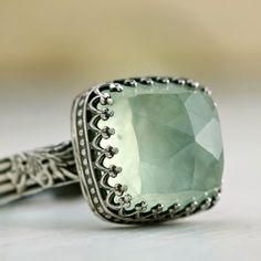 Prehnite Cocktail Ring... pretty