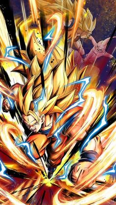 Goku and buu Broly Ssj4, Super Goku, Flying Type Pokemon, Tous Les Anime, Goku Wallpaper, Super Anime, Ssj3, Film D'animation, Z Arts