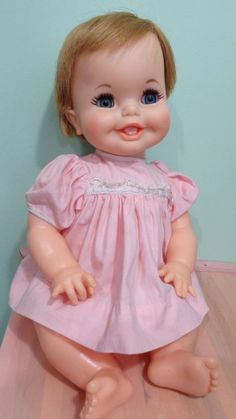 Vintage Ideal Toy Corp. 1967 Tubsy Doll, Big Happy Smile, Tooth, Sweetie!