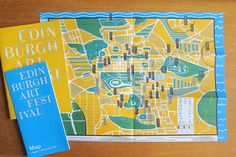 Hannah Waldron's map illustration for the Edinburgh Art Festival. Check out her blog for more of her cool print designs.