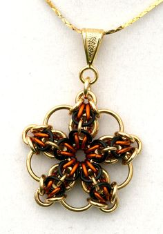 Brita Amber  Brass and Enameled Copper by EclecticArtbyCynthia, $20.00