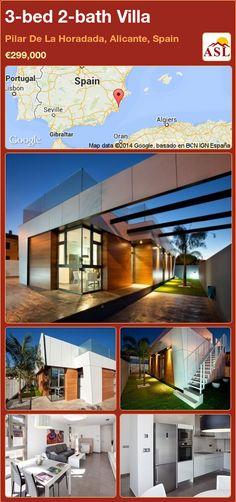3-bed 2-bath Villa in Pilar De La Horadada, Alicante, Spain ►€299,000 #PropertyForSaleInSpain
