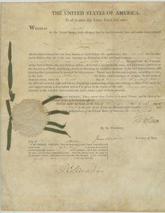 President Thomas Jefferson Signs a Patent  $14,500