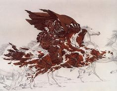 Bev Doolittle - I used to love these paintings when I was little and I am so happy to have found the artist again. I absolutely love her work. Hidden Pictures, Art Pictures, Hidden Images, Photos, American Indian Art, Native American Art, Bev Doolittle Prints, Illusion Art, Illusion Paintings