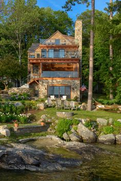 Rustic Houses Exterior, Dream House Exterior, Modern Villa Design, Log Cabin Homes, Cabins, Forest House, Sims House, Dream Home Design, Modern House Plans