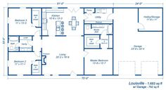 10 Amazing Barndominium Floor Plans For Your Best Home Barndominium Floor Plans, Pole Barn House Plans and Metal Barn Homes Metal House Plans, Pole Barn House Plans, Garage House Plans, Barn Plans, New House Plans, Dream House Plans, Small House Plans, House Floor Plans, Shop House Plans