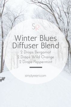 """Winter Blues Diffuser Blend to use with essential oils! Sometimes during the winter we need some uplifting. This diffuser blend helps support our bodies during the """"winter"""" months✨"""