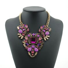Cheap jewelry desk, Buy Quality jewelry package directly from China necklace red Suppliers:2014 New Arrival Luxury Flower multicolor Necklace Brand Crystal  Chokers Statement shourouk girls necklaces & pendants