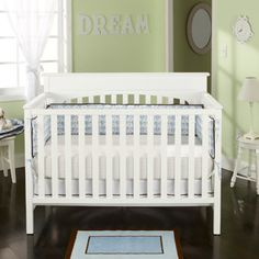 White Crib Graco - Lauren Convertible Fixed-Side Classic Crib, White 4 In 1 Crib, Full Size Headboard, Baby Mattress, Nursery Furniture, Nursery Crib, Girl Nursery, Girl Room, Convertible Crib, Bebe