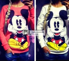 Cheap sweatshirt cute, Buy Quality pullover jumper directly from China knitted sweatshirt Suppliers: Ciysty New 2017 winter women ladies mickey knit Sweatshirts Cute Cartoon O-neck Long Sleeve Loose Casual Pullover jumper femme Hoodie Sweatshirts, Hoodies, Mickey Mickey, Mickey Mouse, Minnie Mouse Cartoons, Costume, Pulls, Sport, Dame