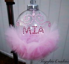 $10 Personalized Princess tutu ornaments visit www.facebook.com/sleepytimecreations or my etsy store http://www.etsy.com/shop/SleepytimeCreations4