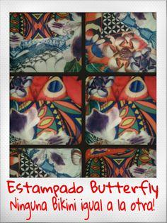 Estampado Butterfly Bikinis Morcis Swimwear