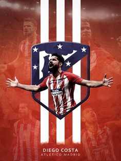 Diego Costa on Behance Football Art, Sport Football, Soccer, Atletico Madrid Logo, At Madrid, Sports Graphics, Football Wallpaper, Graphic Design Art, Web Design