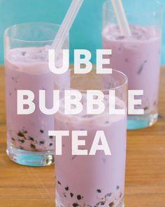 Milk Tea Recipes, Coffee Recipes, Fun Drinks, Yummy Drinks, Boba Flavors, Boba Tea Recipe, Bubble Tea Flavors, Boba Drink, Purple Yam