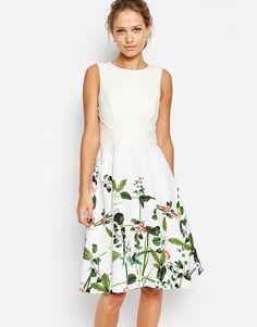 Image 1 ofTed Baker Secret Trellis Print Dress