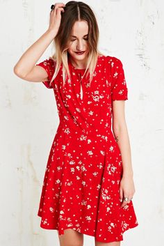Kimchi Blue Ruby Dress in Red at Urban Outfitters