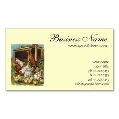 109 best farming business cards images on pinterest in 2018 vintage farm animals rooster hens chickens business card colourmoves