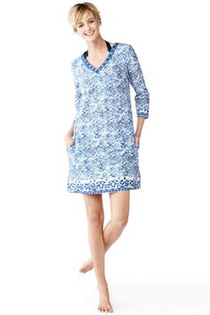 8769bf7034 Women s+Embroidered+Tunic+Cover-up+from+Lands +End