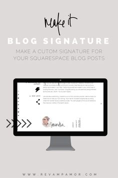 HOW TO: Creating a Blog Signature in Squarespace