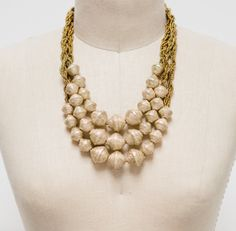 paper beads Ballroom Necklace by 31 Bits - SET & STYLE