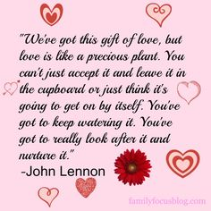 Gift of love- great love quote from John Lennon. 10 Ways To Rekindle The Romance #PutYourHeartToPaper #sponsored Love-related quotes