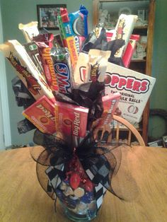 Candy Bouquet for HIM definitely doing this for valentines day!