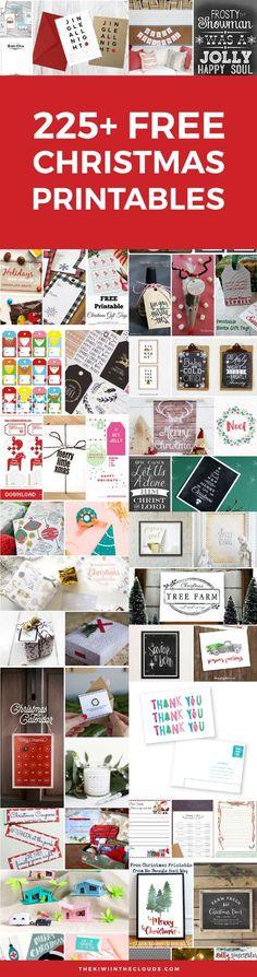 Free Christmas Printables   Kids Christmas Printables   Christmas Tags   Christmas Wall Art