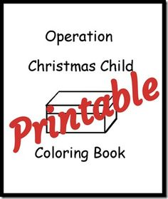 Printable Coloring Book for Operation Christmas Child