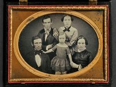 Half Plate Daguerreotype Three Generation Family Portrait |