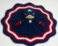 ... Crochet Captain, Crochet Projects, Captain America, Blankets Patterns