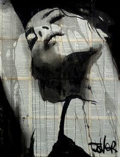 "Saatchi Art Artist LOUI JOVER; Drawing, ""total eclipse"" #art"