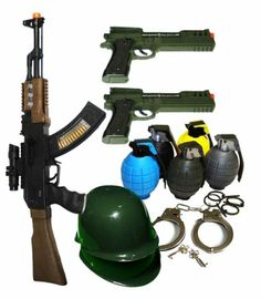 Ultimate Kids Toy Army Combat Set with Guns, Grenades, & Handcuffs