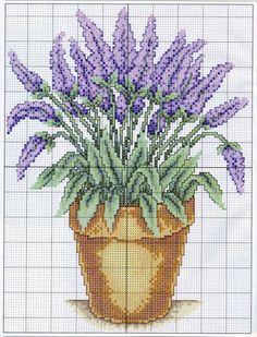 "Photo from album ""Лаванда"" on Yandex. Lavender Crafts, Lavender Sachets, Lavender Flowers, Lavander, Cross Stitch Books, Cross Stitch Rose, Cross Stitch Flowers, Cross Stitch Designs, Cross Stitch Patterns"