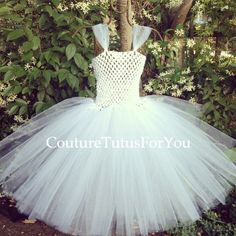 Angel white tulle dress tulle dress white by CoutureTutusForYou, $32.95