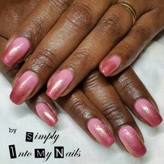 IBD Peach Blossom with Gradient Nail Art