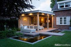 Garden room with veranda - gardenroom Backyard Sheds, Outdoor Sheds, Backyard Pergola, Outdoor Rooms, Backyard Landscaping, Outdoor Gardens, Outdoor Living, Pavers Patio, Pergola Roof