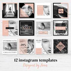 Photographer instagram templates modern social media design