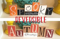 Halloween and Fall Reversible Blocks by CraftswithasideofYou
