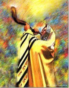 The Last Trumpet - Blow The Shofar Art Print Cultura Judaica, Arte Judaica, Joseph In Egypt, Shabbat Shalom Images, Yard Art Crafts, Biblical Art, Biblical Hebrew, Christian Artwork, Jesus Art