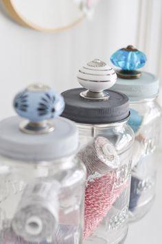 Upcycled Mason Jar Storage