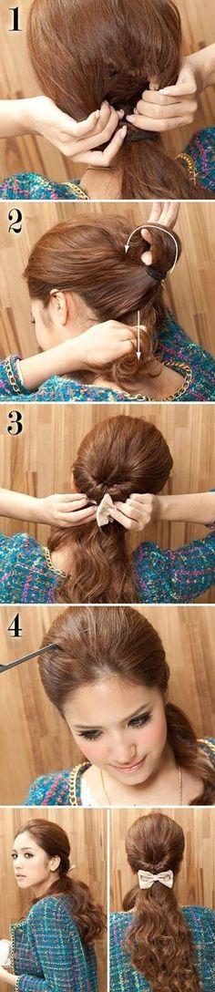DIY: tie a beautiful ponytail
