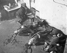 St. Valentine's Day Massacre: An example of the tragedy that took place during prohibition stemmed from the birth of the mob. Assassinations and casualties of bystanders by organized crime were rampant  throughout the 20s. This massacre was just one of many incidences that resulted in multiple deaths. Throughout the 20s law enforcement was engulfed with organized crime cases.