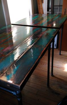 """Awesome """"bistro furniture outdoor"""" information is offered on our internet site. Funky Furniture, Furniture Projects, Painted Furniture, Refurbished Furniture, Diy Projects, Table Cafe, Vintage Doors, Funky Home Decor, Etsy"""
