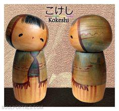 Kokeshi by Fukushima Hiroe.
