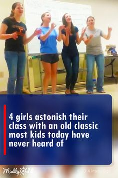 4 girls astonish their class with an old classic most kids today have never heard of. Get your favourite Live Sport everyday with unlimited bandwith and High Quality I Love Music, Pop Music, Music Songs, Music Videos, Fun Songs, Unchained Melody, Country Music Singers, Country Music Lyrics, Classic Songs