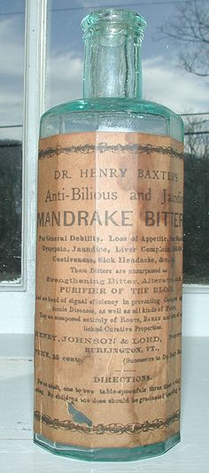 Antique pontiled medicine bottle