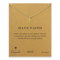 The most perfect gift is a gentle reminder to have faith at all times. Give the gift of our dainty gold cross necklace with sentimental card attached. Payment is Guaranteed To Be 100% Safe and Secure