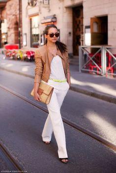white fashion 9 WHITE pants? Why not! (26 photos)
