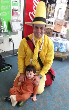 """Curious George - and the Man with the Yellow Hat. Right before I took this picture, """"George"""" gently pushed over a nearby baby."""